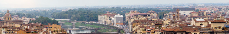 Panoramic view of Florence, from Michelangelo Square