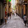 Narrow, cobblestone streets