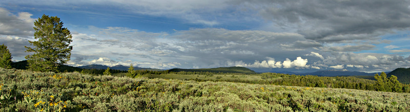 Panorama of the Teton Wilderness looking toward the Absaroka Range