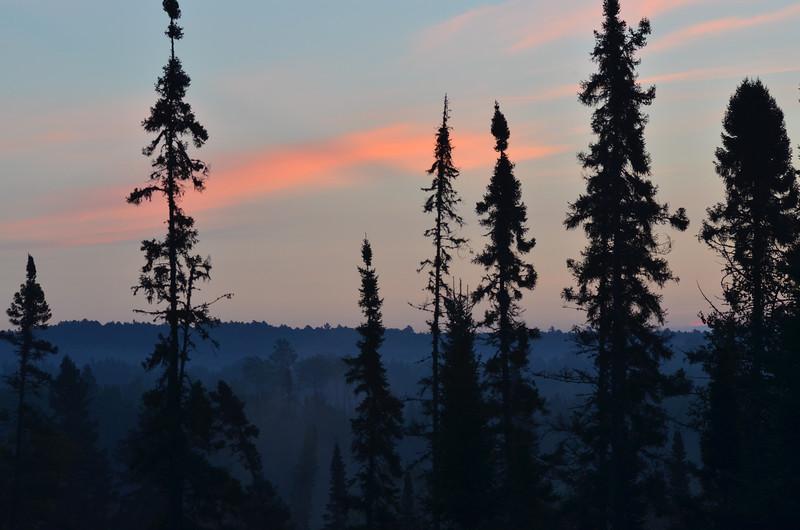Dawn on Gunflint Trail, MN.  Sept. 9, 2014
