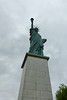 "Statue of Liberty are found in Paris,  near the Grenelle Bridge on an island in the Seine (  (37 feet 9 inches high)  it looks towards the Atlantic Ocean and hence towards its ""larger sister"" in New York Harbor. Was completed in July 1886, by  French sculptor Frédéric Auguste Bartholdi"