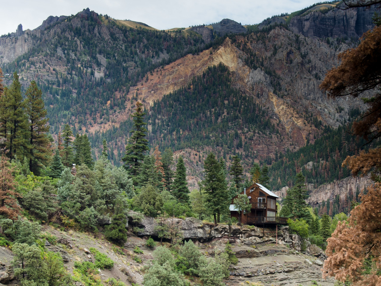 house near Box Canyon overlooking Ouray