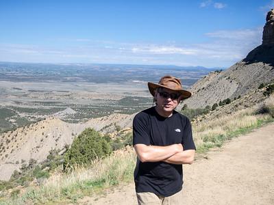 Roger at the Montezuma Valley overlook in Mesa Verde