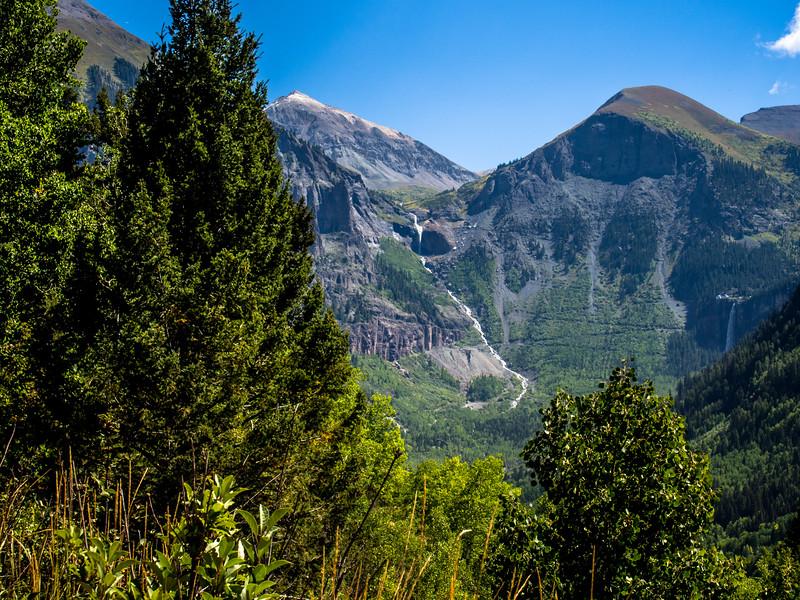 Bridal Veil Falls and Black Bear Pass road