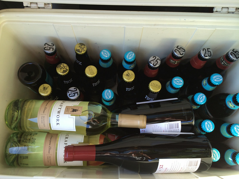Our cooler is stocked, but not sufficiently