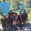 Family hike along Echo Lakes