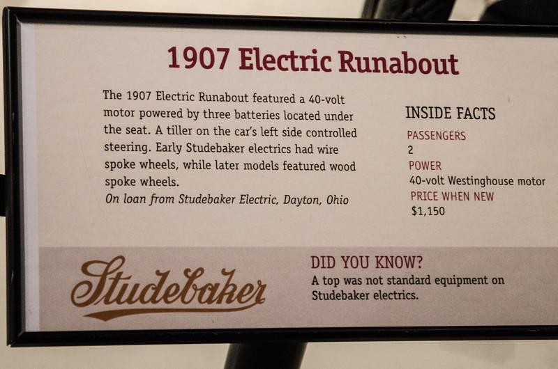 1907 Electric Runabout Description