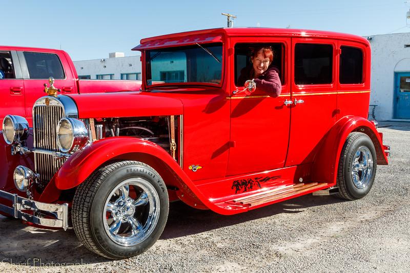 Froukje in her 1929 Dodge