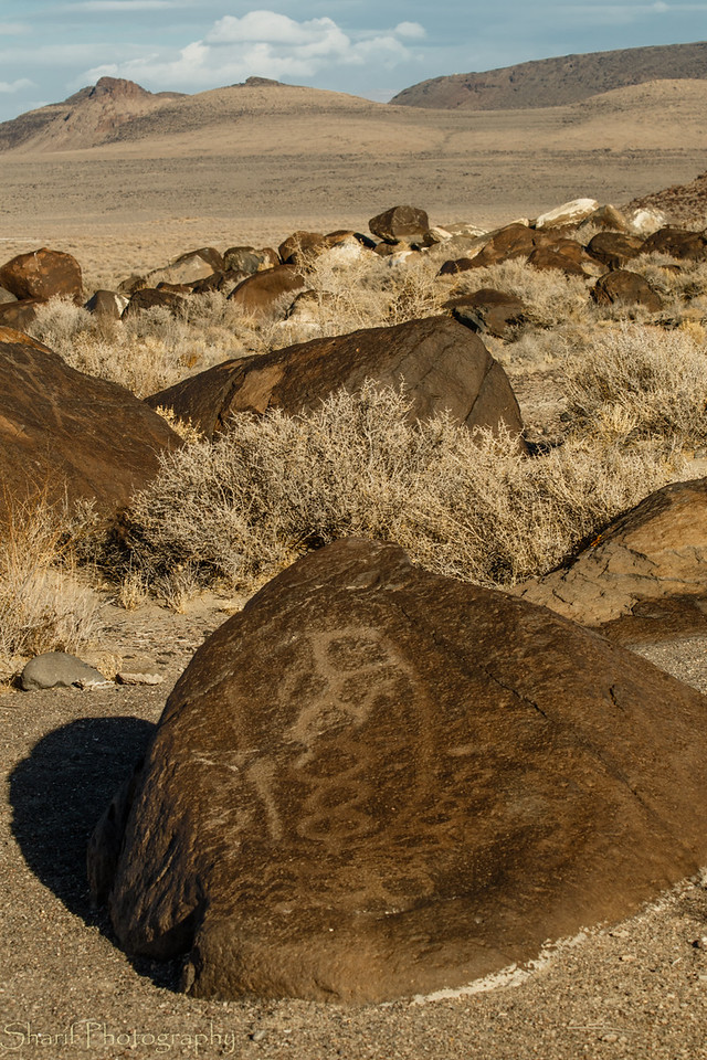 Petroglyphs on the loneliest highway