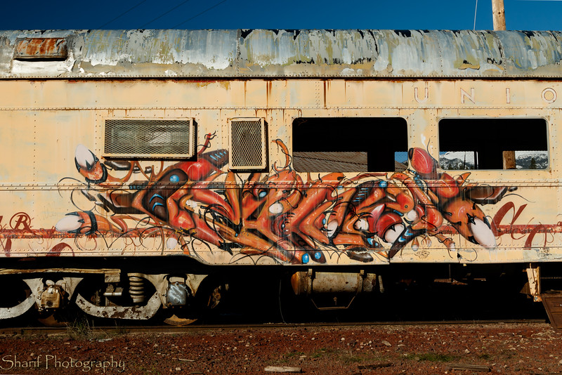 Grafitti on retired train