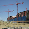new hotel being built next to the main terminal.  Are these wings of a bird or an ark?  You decide.
