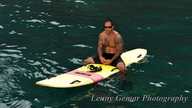Our lifeguard...