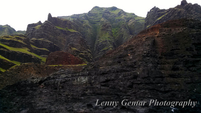 Claire's cameraphone photo of the Na Pali coast.