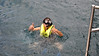 Two thumbs up as Claire snorkels the Na Pali coast.