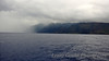 Rain begins to form over the Na Pali coast.