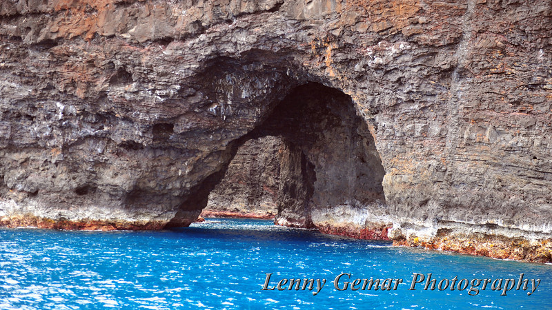 A tunnel on the Na Pali coast.