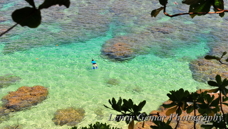 Hideaways beach, with coral reefs perfect for snorkeling.