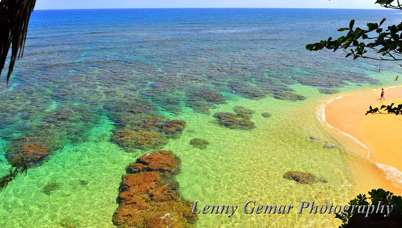 Hideaways Beach, with coral reefs, perfect for snorkeling.