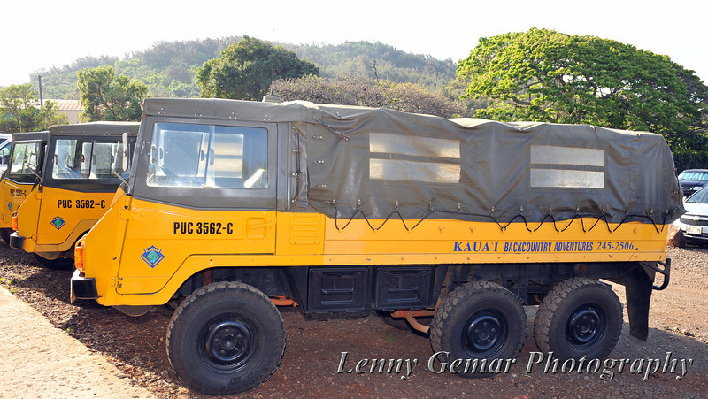 Pinzgauer High-Mobility All-Terrain Vehicle, one of several used by Kaua'i Backcountry Adventures.