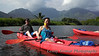 Lenny and Claire on the Hanalei River.