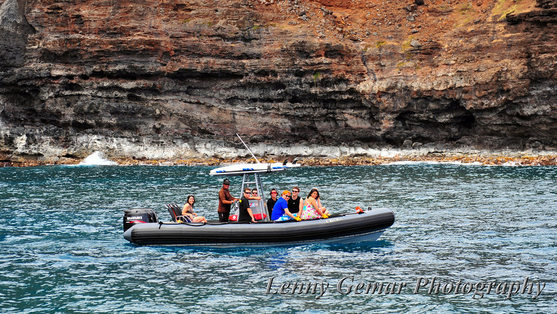 One of the Zodiak inflatable boat tours.  We took one last year, and they can be rough.