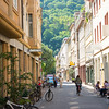 Typical street layout in Heidelberg