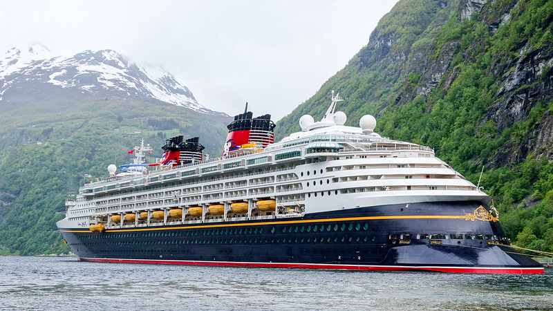 Disney Magic at Geiranger, Norway