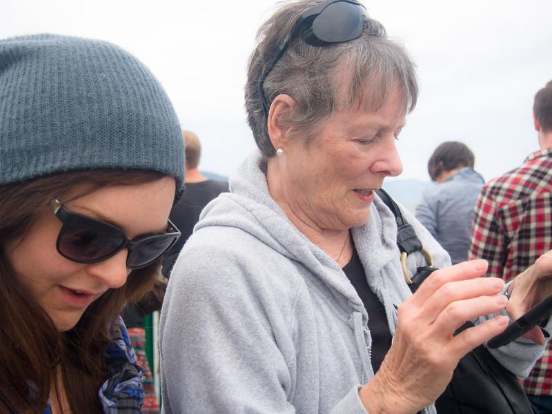 Donna and Sarah, taking photos