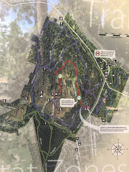 map of Mt Douglas park
