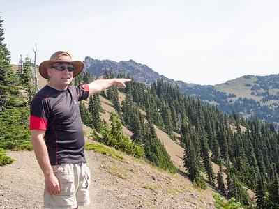 Pointing to Klahhane Ridge