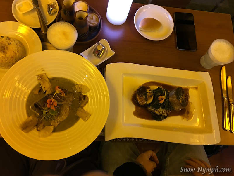 Tunupa Restaurant - I had Trout with a green sauce, and Scott had Trout (cooked 2 ways).  One of my favorite meals in Cusco!