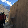 These large blocks of rock were moved from that mountain in the distance Ollantaytambo Inca site