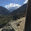 View of the valley from Ollantaytambo Inca site