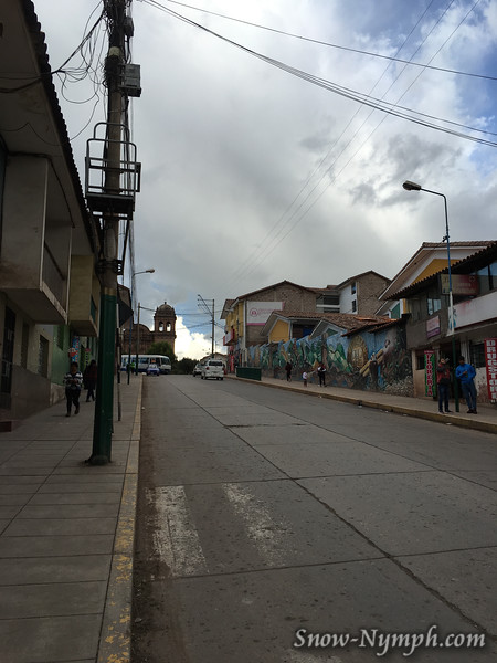 1 of 3  Walked around town looking for hiking shoes for the Inca Trail.  My boots touched my pinky toe and it was still painful from hitting the foot of the bed