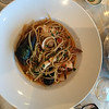 Dinner at Toscana Restaurant - Linguine Cioppino at Toscana - Pasta with Little Neck Clams, Black Mussels, Calimari, Shrimp and Monkfish