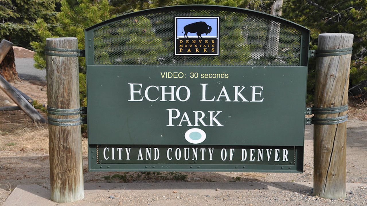 VIDEO:  30 secs. -- Echo Lake--Click on image above and then on triangle and video will play.