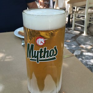 Mythos beer, Athens, Greece