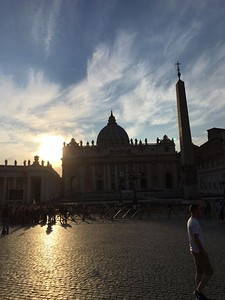 Sunset, St. Peter's square, Rome