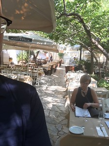 Street cafe, first meal, Athens, greece