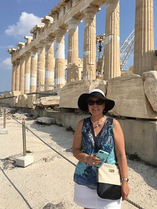 Sally at the Acropolis, Parthenon, Athens, greece