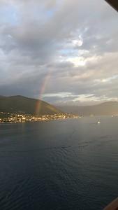rainbow leaving Kotor Montenegro