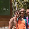 Charley, Keith, and Wesley - enjoying the tropics at Kio Ora Resort