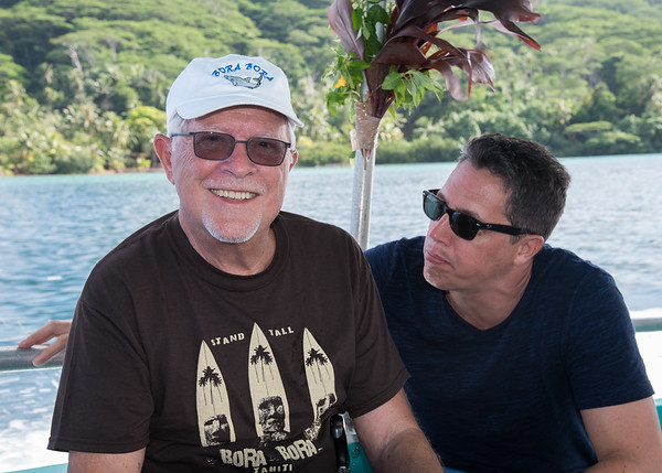 Think Bill needed clothes in Bora Bora, our previous stop?  Bill and Brett