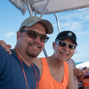 Wesley and Keith - off to our water adventure in Bora Bora