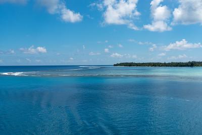Bora Bora's coastal waters - breathtaking!