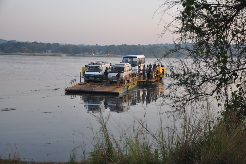 Ferry to other side of Nile to begin Game Drive