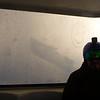 Frozen windows have frost, on Creekside Gondola