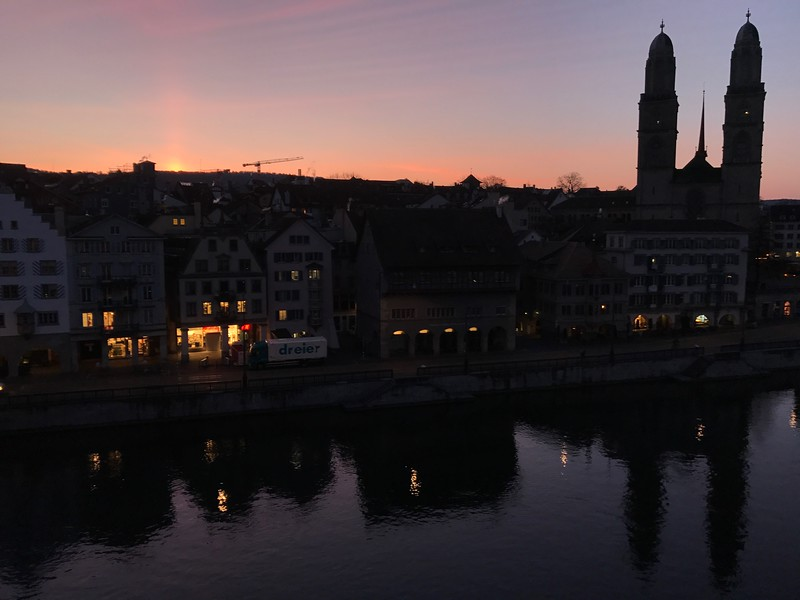 2017-03-27  Sunrise from our room at Hotel Storchen