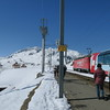 Glacier Express Train, we got to go outside for 7 min while train was stopped