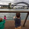 Griffin & Oliver looking @ Sydney Bridge over Port Jackson